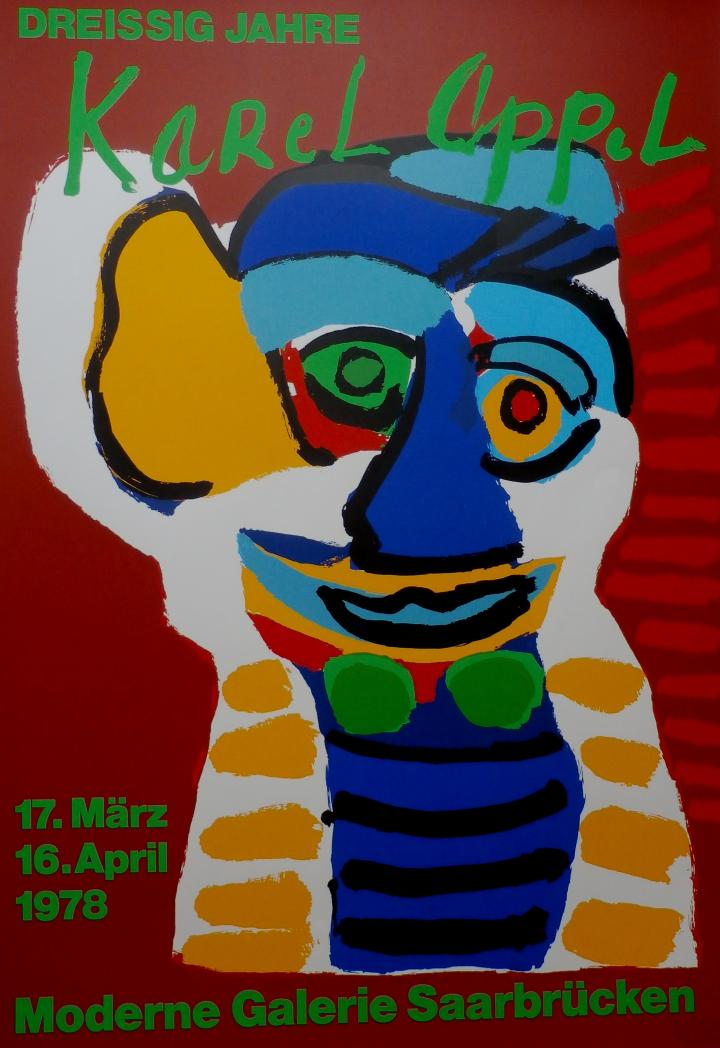 Karel Appel - Affiche: Saarbrucken - 1978 - Karel Appel